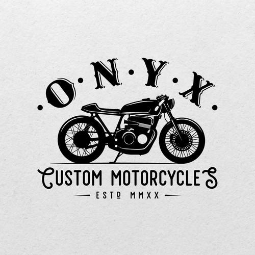 Custom motorcycle startup logo