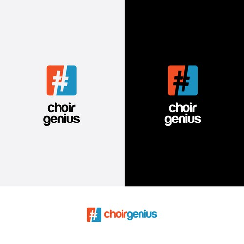 Clear Logo For Choir Genius