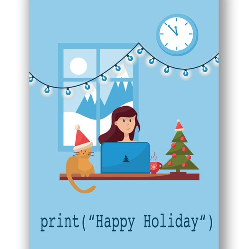 Holiday card for IT company