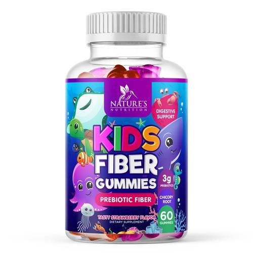 Kids Fiber Gummies Design