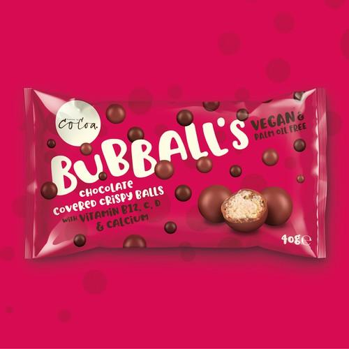 Fun Bubble inspired Chocolate snack design