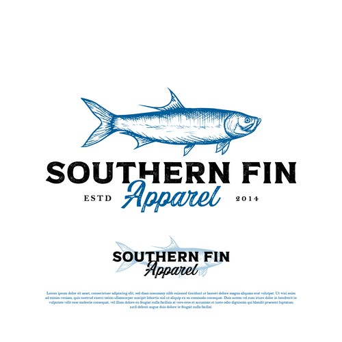 Logo for a fishing apparel brand