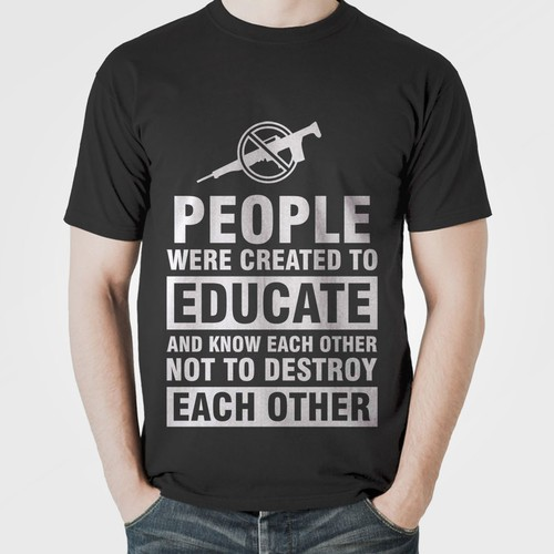 tshirt concept for integration or education