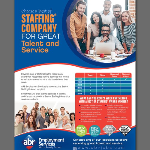 Staffing flyer