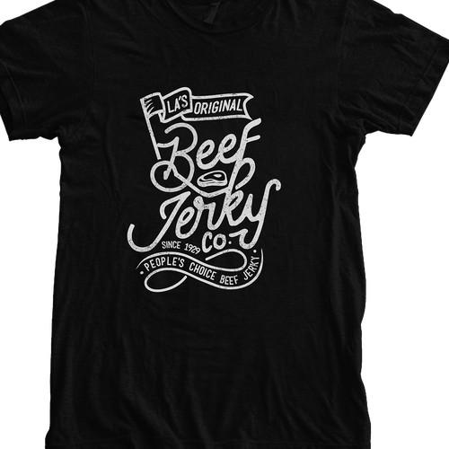 Typography Beef Jerky