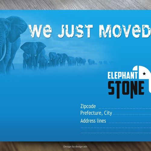 Moving Postcard design for production company