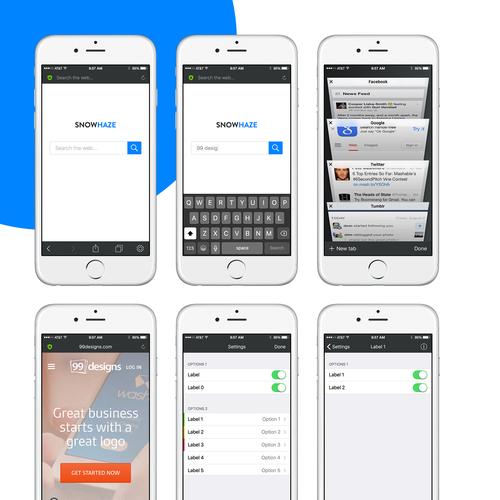 Snow Haze Browser App Design