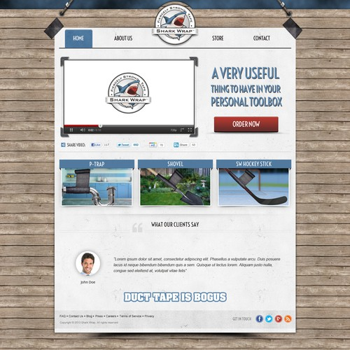 Website design for Shark Wrap