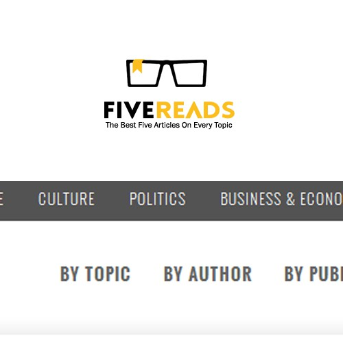 Create a website logo for www.FiveReads.org