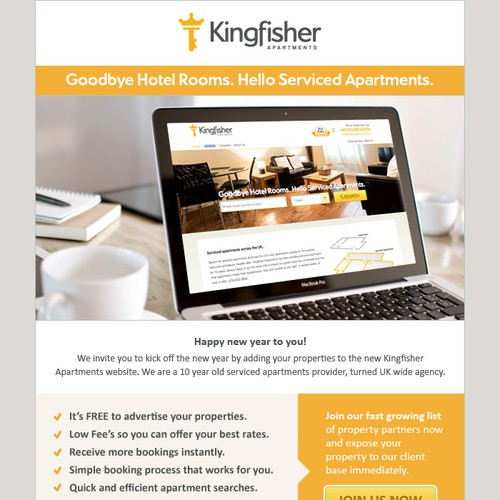 Newsletter design for Apartment Booking Agency
