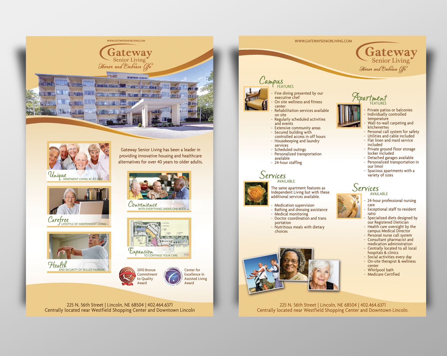 Help Gateway Senior Living with a new postcard or flyer