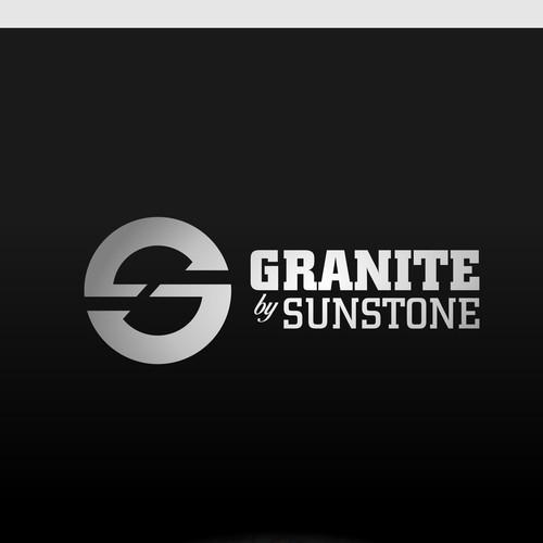 Simple logo design concept for granite by sunstone