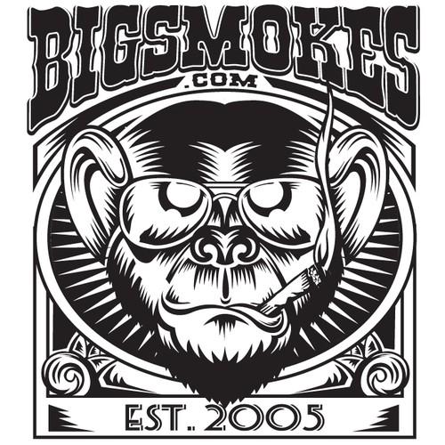 Creative Vintage Logo needed for BigSmokes.com Cigar Shop