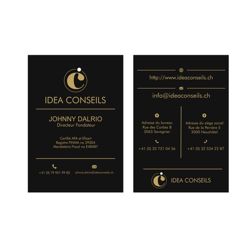 Logo & Business Card IDEA CONSEILS