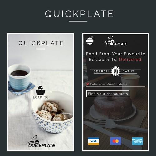QuickPlate App Design
