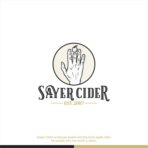 Logo concept for Sayer Cider