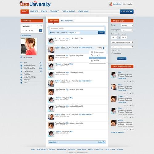 Create the next website design for Dating Website / UI