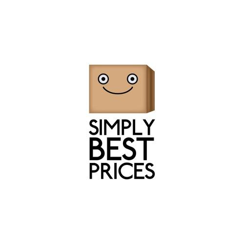 A simple mascot logo for an online shop