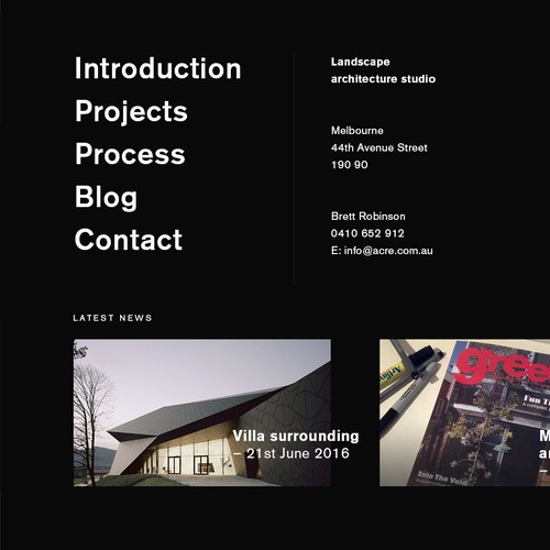 Webdesign for Architecture Studio