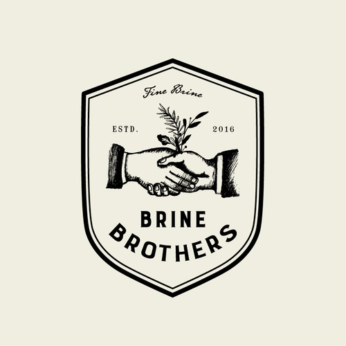 Design a unique brand logo for premium pickle brine drink for Brine Brothers