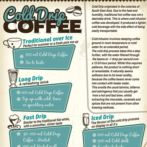 Flyer for coffe company