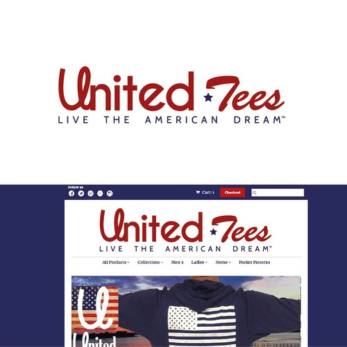 Redesign of United Tees Website Logo with Slogan
