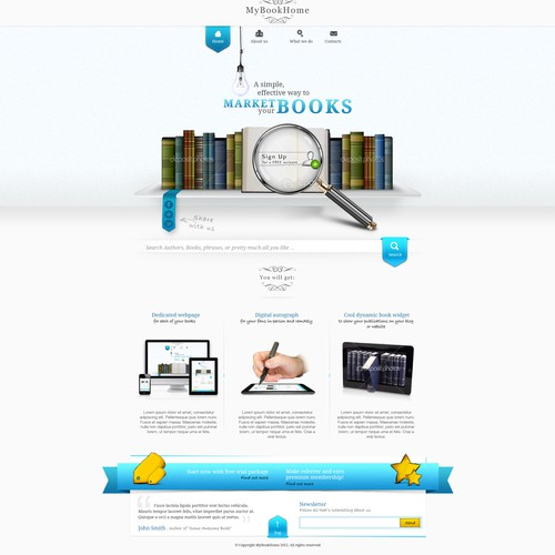 Website design for MyBookHome.com | More work for winning designer