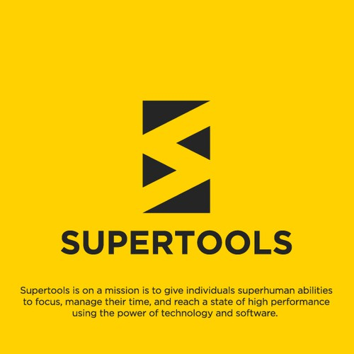 Minimalist Logo Design for Supertools
