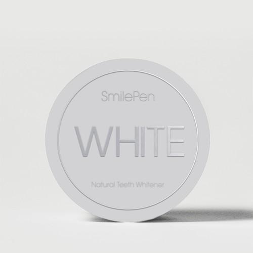 Natural Teeth Whitening Label Design