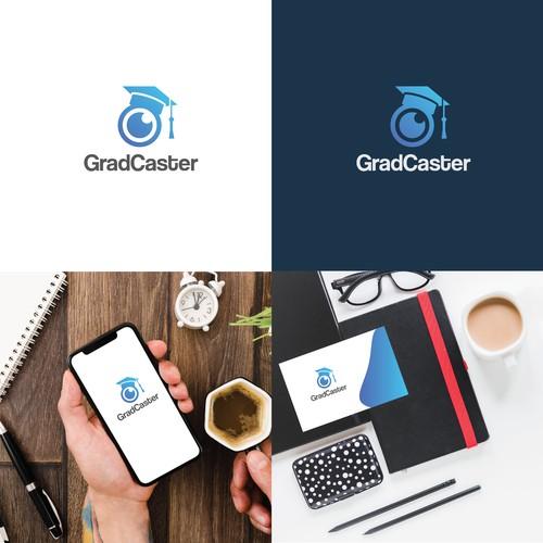 Bold logo concept for graduation streaming app