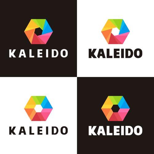 Simple, modern logo for image filter app platform - Kaleido