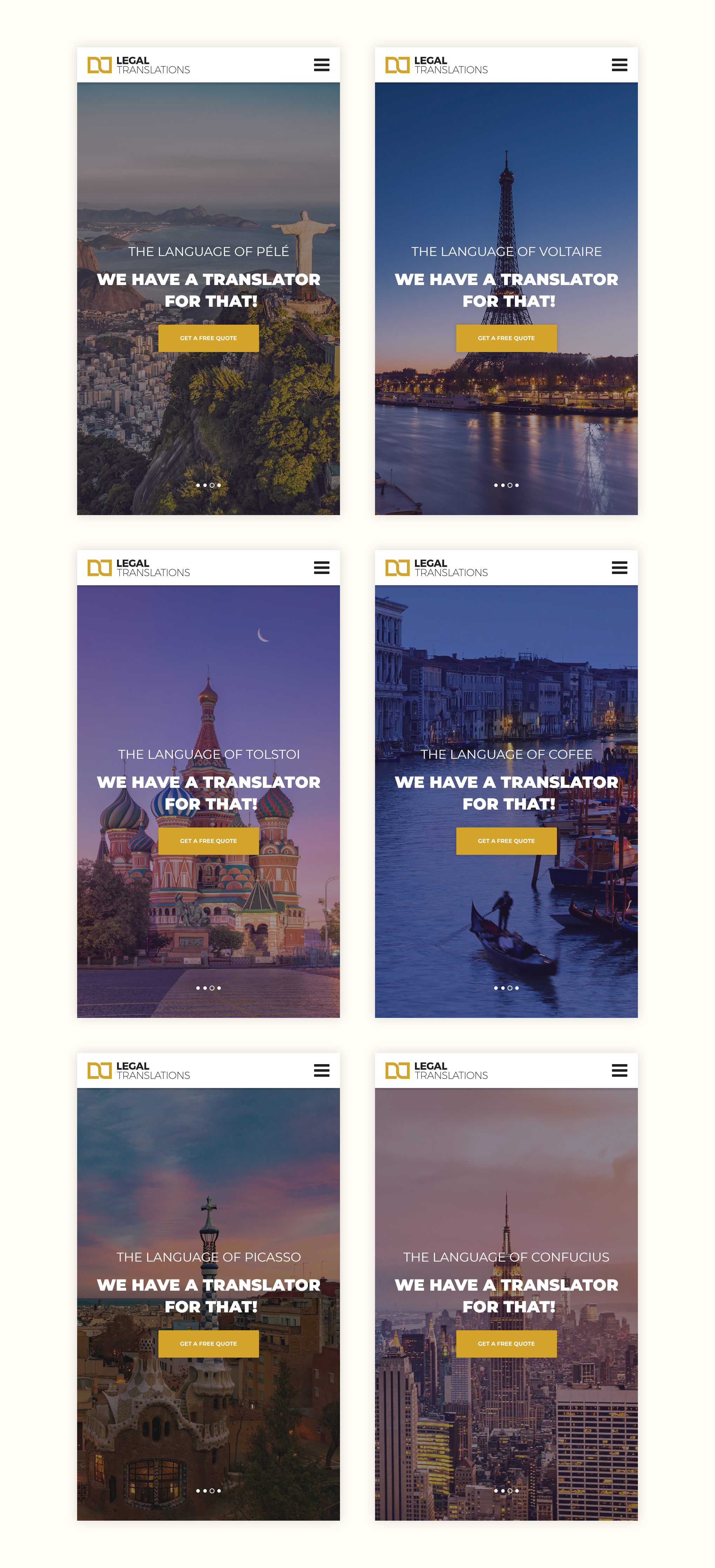 Awe-inspiring responsive design that transports you to exotic business locations.