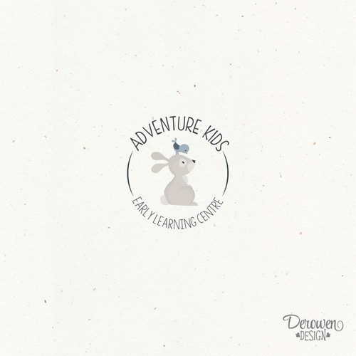 Logo for young children, daycare.