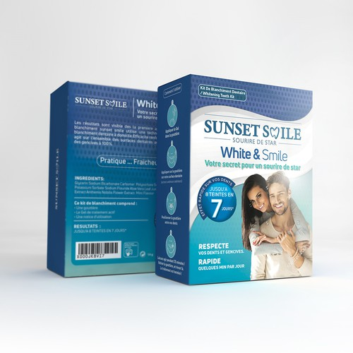 High end teeth whitening product packaging box
