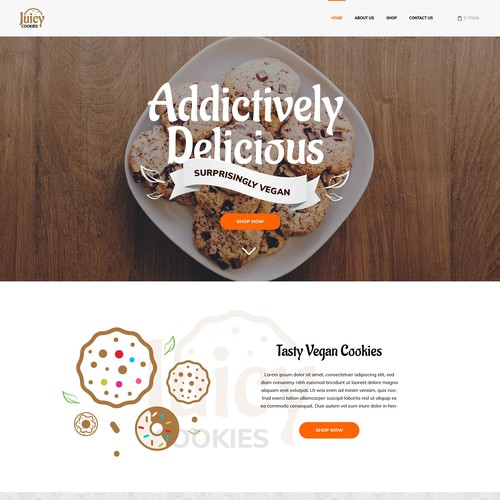 Web design for cookies store