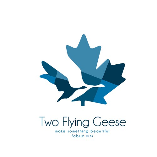 Two Flying Geese