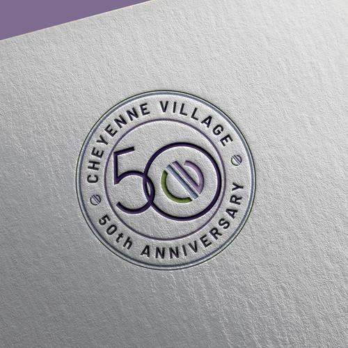 Cheyenne Village 50th Anniversary Logo