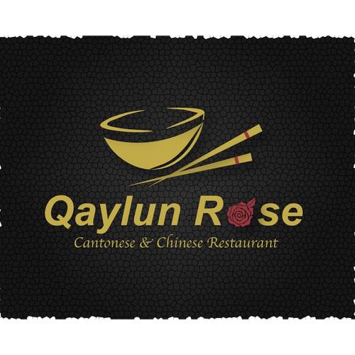 Qaylun Rose Restaurant Logo Concept 1