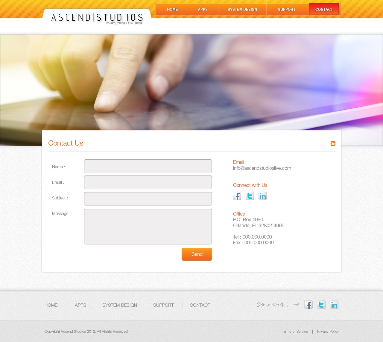 website design for Ascend Studios