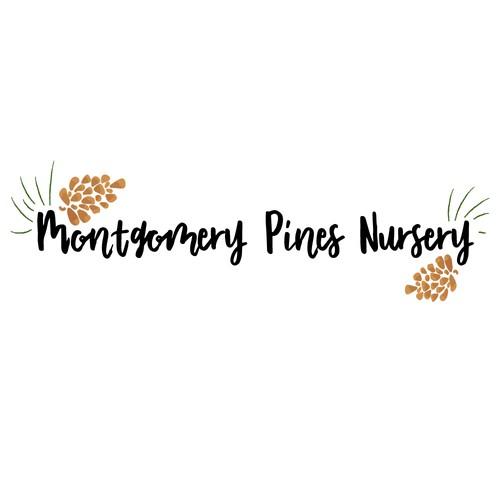 Whimsical logo for a nursery