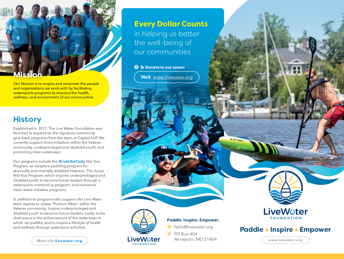 Update Live Water Brochure - Past Project