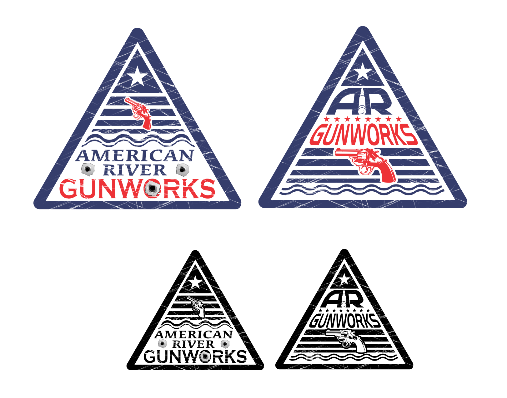 logo for American River Gunworks or AR Gunworks