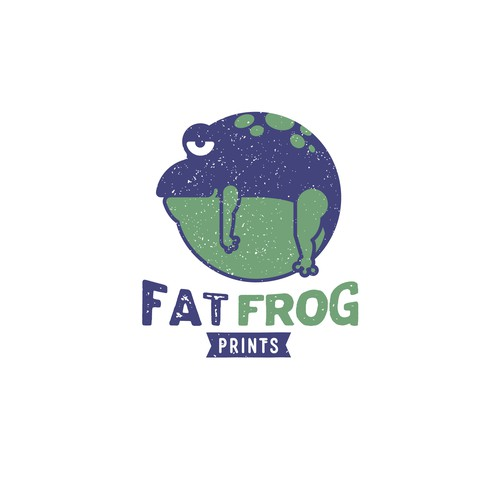 Fat Frog Prints Logo