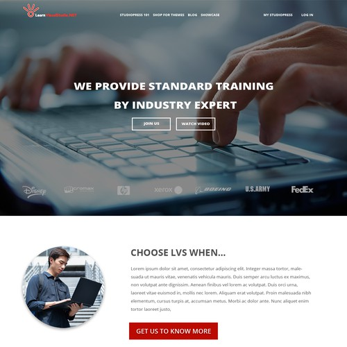 DeveloperUniversity WordPress Homepage