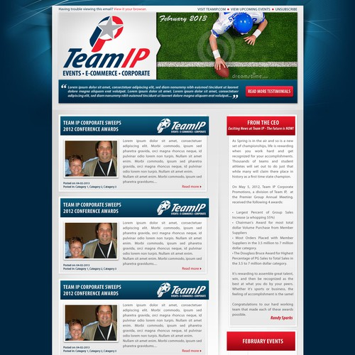 TeamIP needs a new and modern Quarterly Newsletter!
