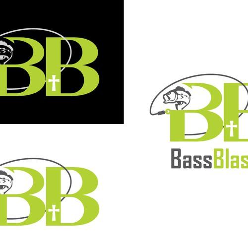 Simple, loud, powerful, fun logo for a popular bass fishing media source!