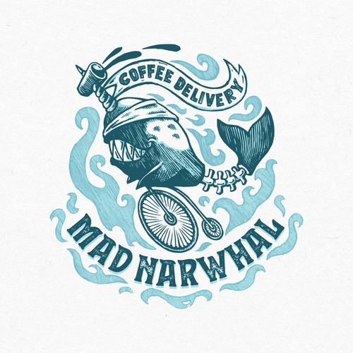 Mad Narwhal Logo Design