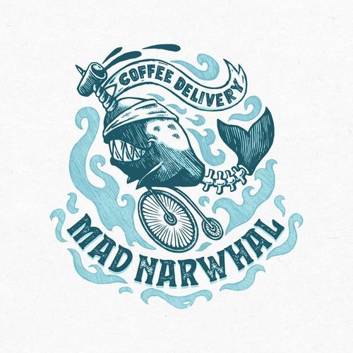 Mad Narwhal Logo Design