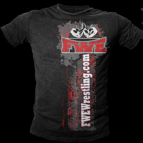 Wrestling T-shirt design & logo