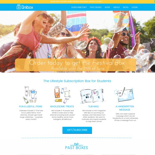 Monthly Subscription Box Wordpress Website